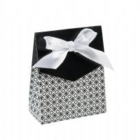 Black Tent Fold Favour Boxes (12)